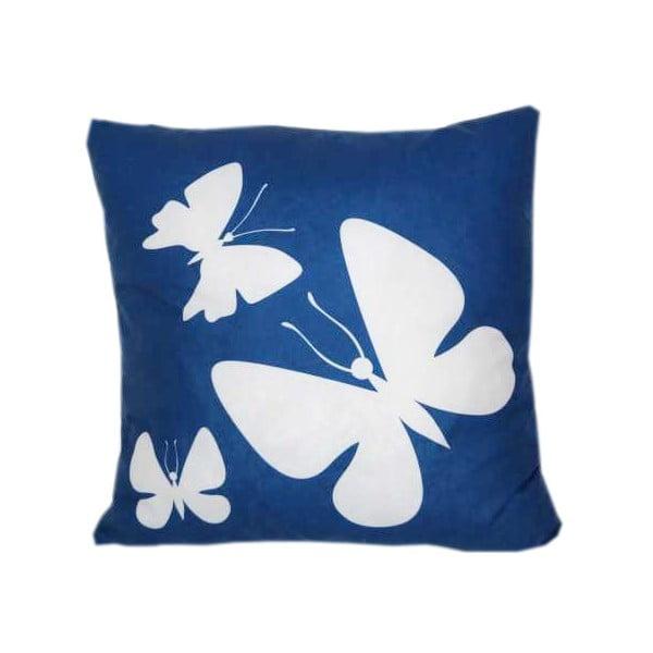 Poduszka Butterfly Blue, 42x42 cm