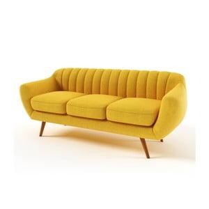 Żółta   sofa trzyosobowa Wintech Azzurre