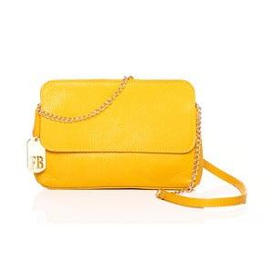 Skórzana torebka Envelope Yellow