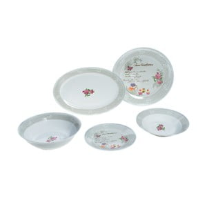 Zastawa porcelanowa Grey Rose, 20 szt.