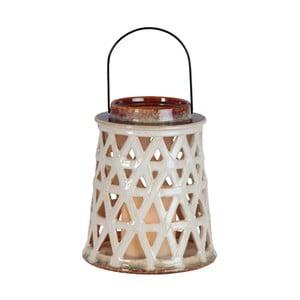 Biały lampion ceramiczny LED Best Season