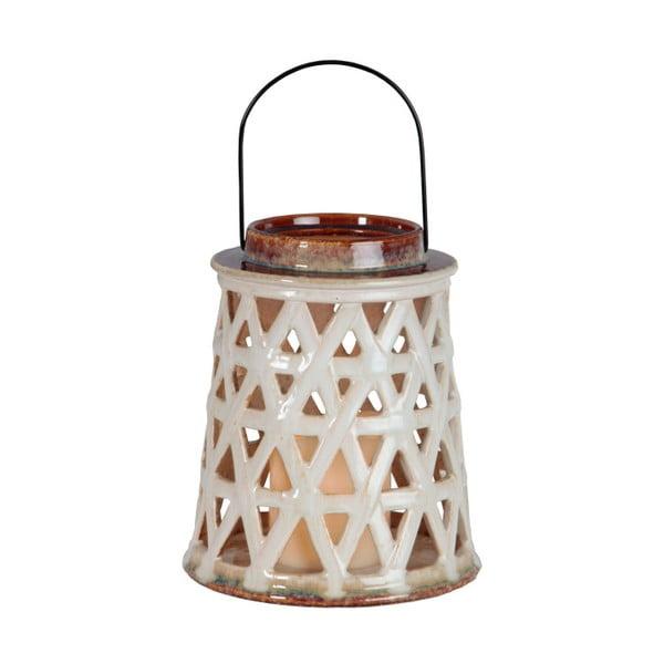 Biały lampion ceramiczny LED