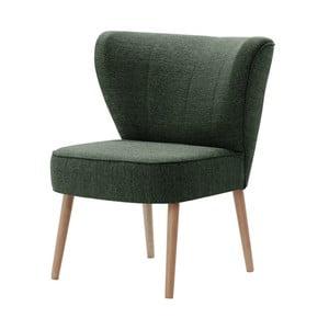 Ciemnozielony fotel My Pop Design Adami