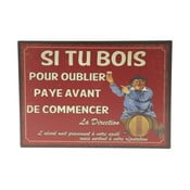 Tabliczka z blachy Antic Line Si Tu Bois