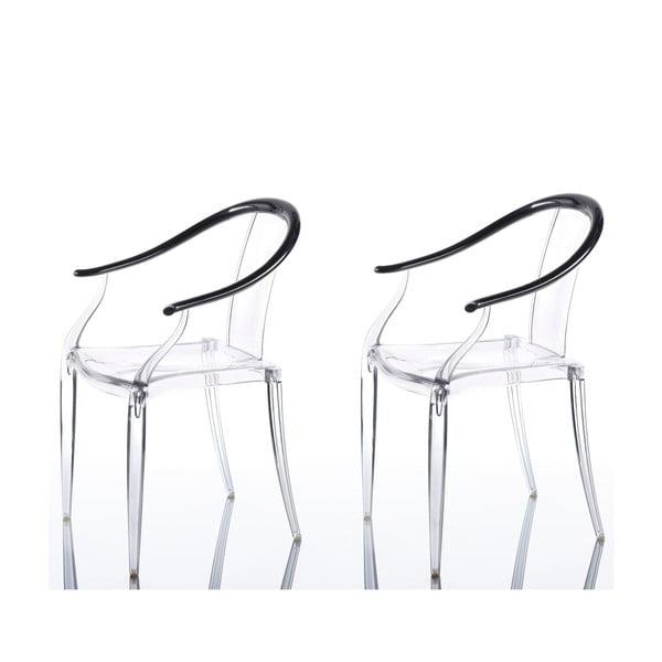 Komplet 2 krzeseł Mi Ming, czarne