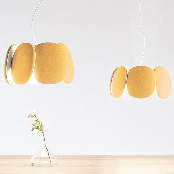 Lampa sufitowa Bloemi Goose Beak, pomarańczowa, 45 cm