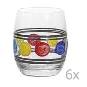 Zestaw 6 szklanek Summer Grey