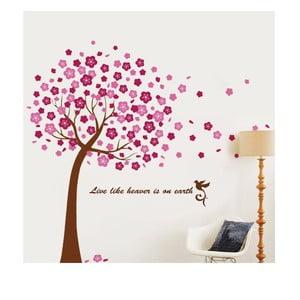 Naklejka ścienna Duże różowe drzewo