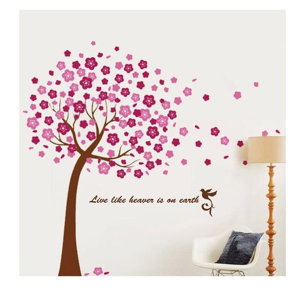Naklejka WALPLUS Duże różowe drzewo