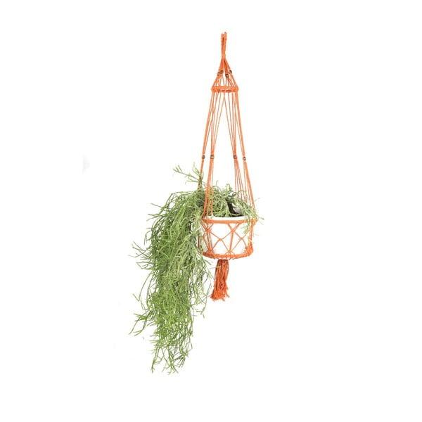 Wisząca osłonka na doniczkę Macrame Naranja, 25 cm