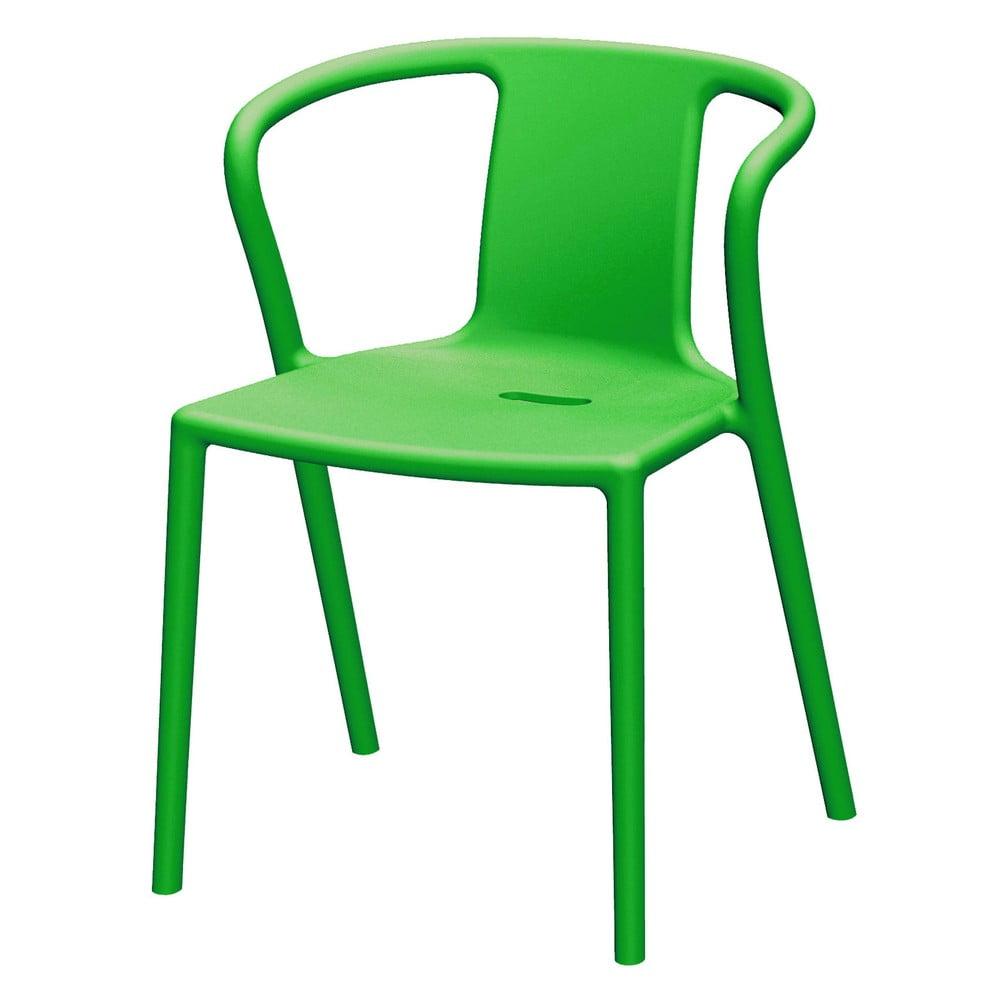 Zielone krzesło z podłokietnikami Magis Air