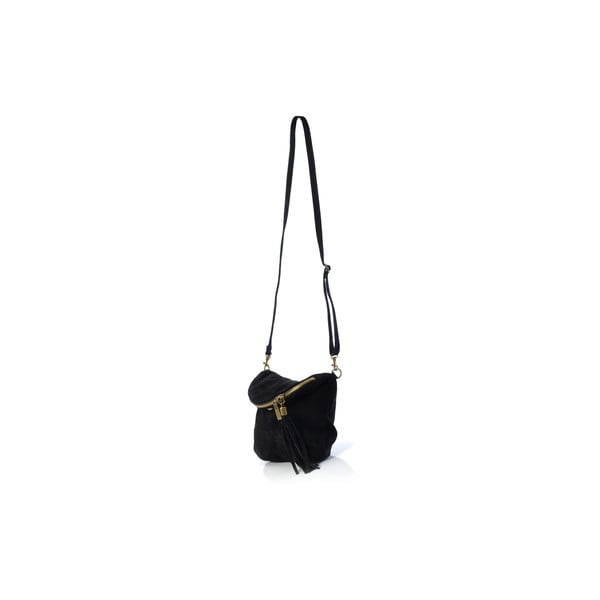 Skórzana torebka Juliette, czarna