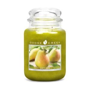 Świeczka zapachowa w szklanym pojemniku Goose Creek Soczysta gruszka, 150 godz. palenia