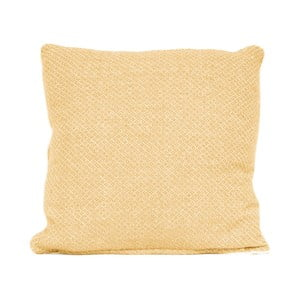 Żółta poduszka z wypełnieniem Present Time Cozy
