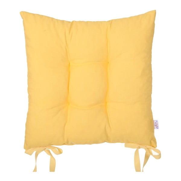 Żółta   poduszka na krzesło Carli