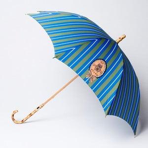 Parasol Alvarez Stripe Blue Green Illustration