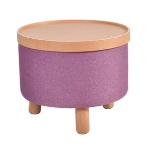 Fioletowy stołek ze zdejmowanym blatem Garageeight Mold, ⌀50cm