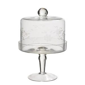 Szklana patera z przykrywką Bell, 21 cm