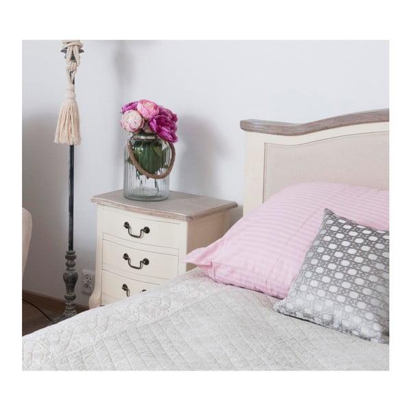Biała szafka nocna z drewna topoli Livin Hill Santo