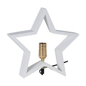 Biała drewniana gwiazda świecąca Best Season Lysekil, 30x29 cm