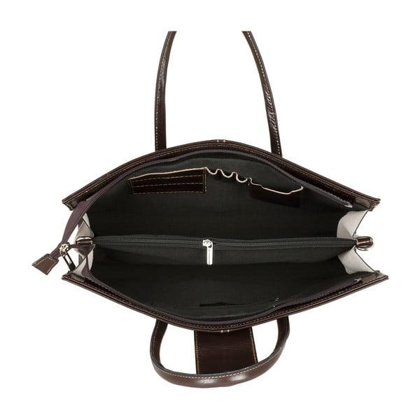 Ciemnobrązowa torebka skórzana Ore Diece Bari