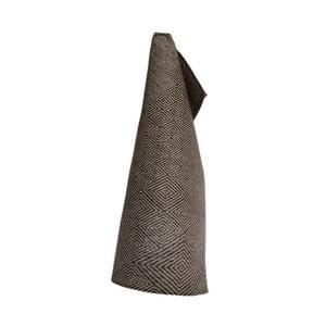 Czarny lniany ręcznik Iris Hantverk Gåsöga, 50x70cm