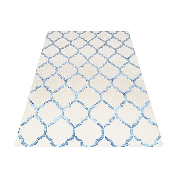 Dywan tuftowany ręcznie Chain, 153x244cm, niebieski