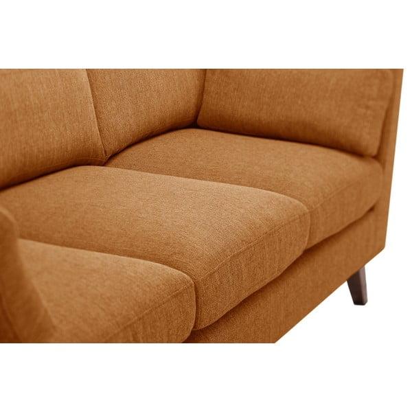 Pomarańczowa sofa trzyosobowa Jalouse Maison Elisa