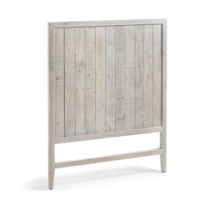 Drewniany zagłówek łóżka z białą patyną La Forma Woody, dł.105cm