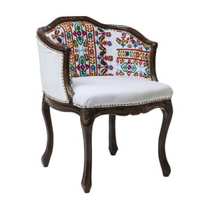 Fotel z konstrukcją z drewna mangowca Kare Design Lotta