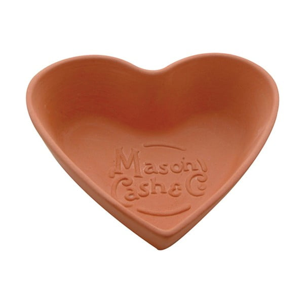 Terakotowa miska Heart, 15 cm
