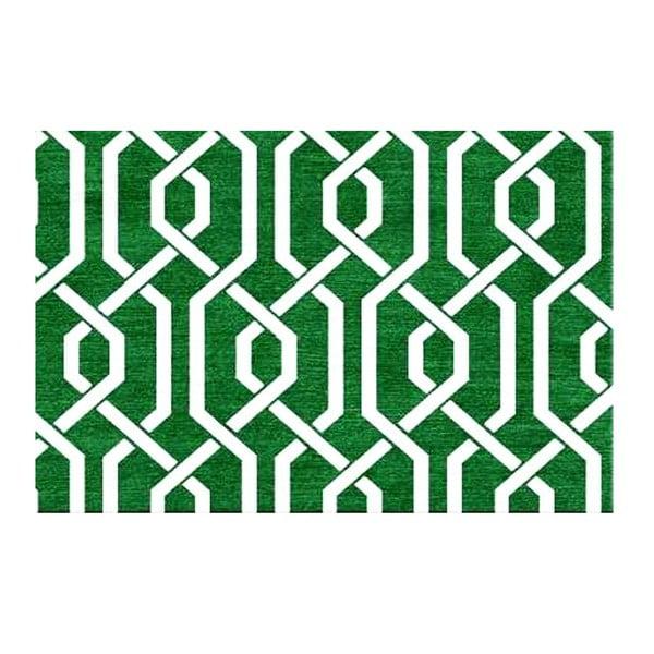 Ręcznie tkany dywan Camila Green, 155x240 cm