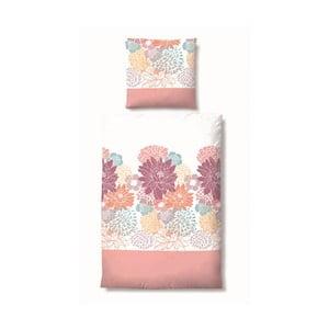 Pościel Maco Jersey Flowers Pink, 135x200 cm