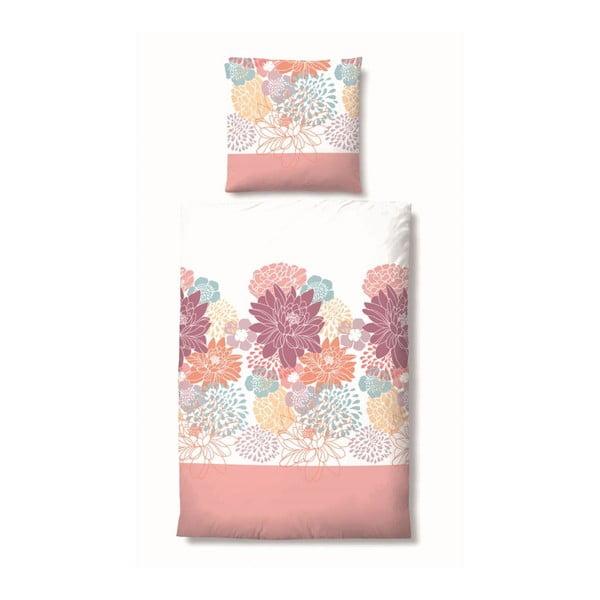 Pościel Maco Jersey Flowers Pink, 155x220 cm
