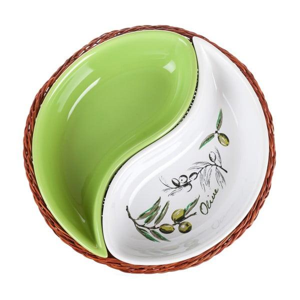 Miska w koszyku Banquet Olives, 20,5 cm, 2 elementy