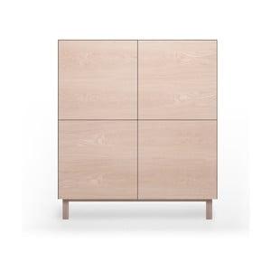 Komoda 4-drzwiowa z drewna dębowegoAnother Brand Cubo