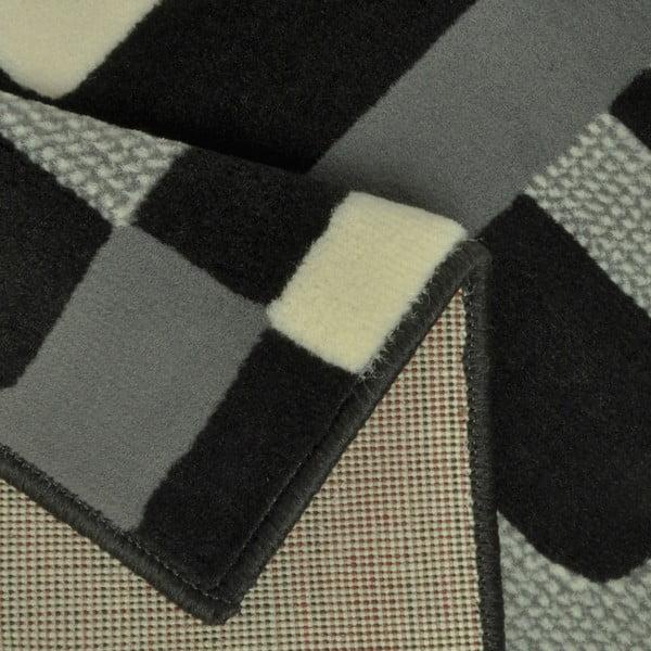 Dywan Hamla Retro, 80x150 cm, czarny