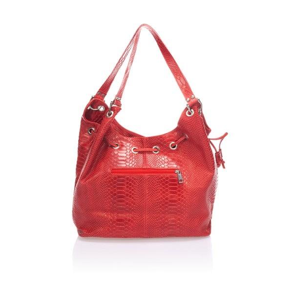 Skórzana torebka Divisa, czerwona
