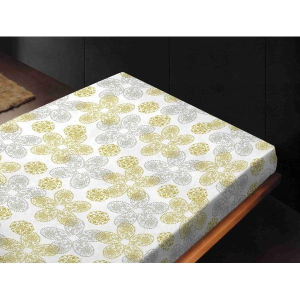 Prześcieradło Misty Amarillo, 240x260 cm