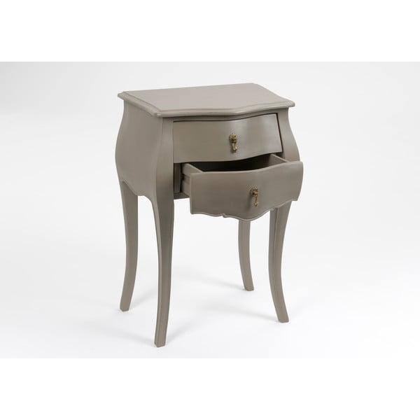 Stolik z dwoma szufladami Muran Taupe