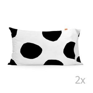 Zestaw 2 bawełnianych poszewek na poduszki Blanc Dot,50x80cm