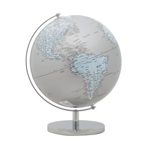 Globus dekoracyjny Mauro Ferretti Mappamondo Silver, ⌀ 25 cm