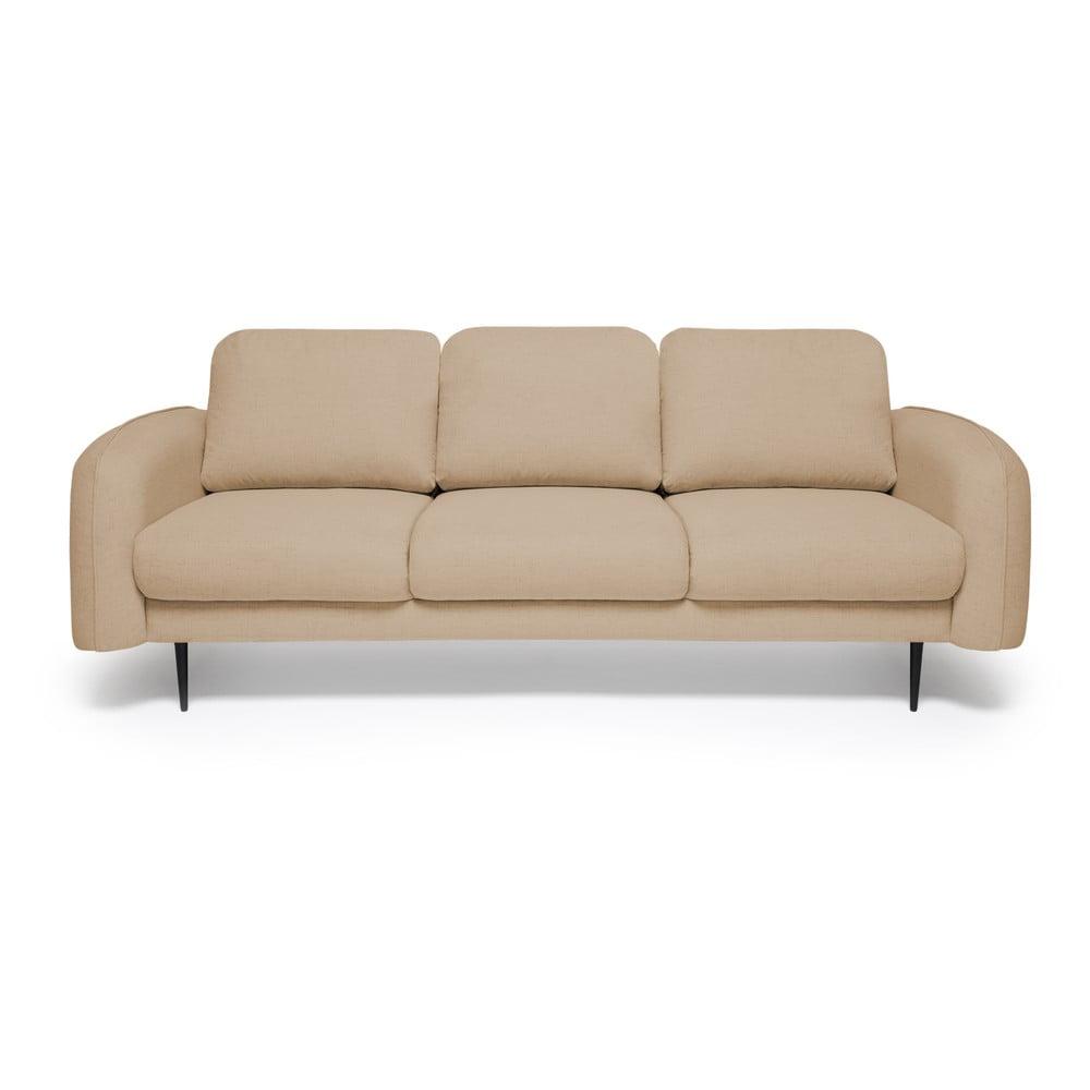 Piaskowa sofa 3-osobowa Vivonita Skolm