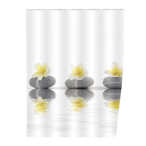 Zasłona prysznicowa Stones with Flower