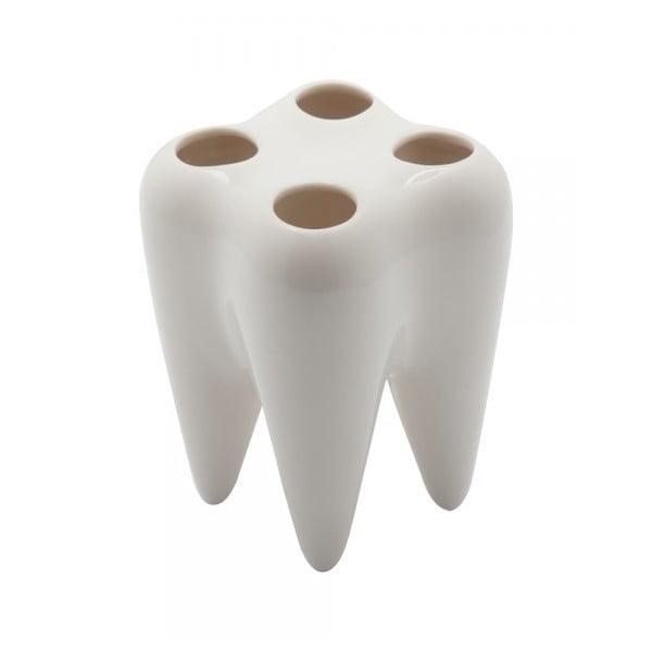 Stojak na szczoteczki Tooth, biały