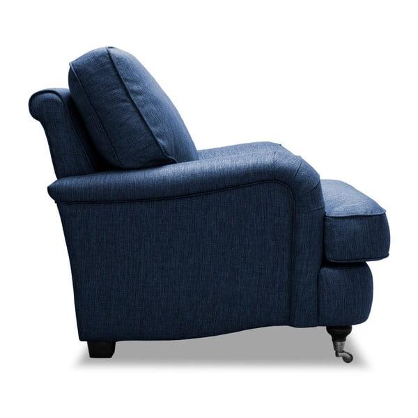 Niebieski fotel Vivonita William