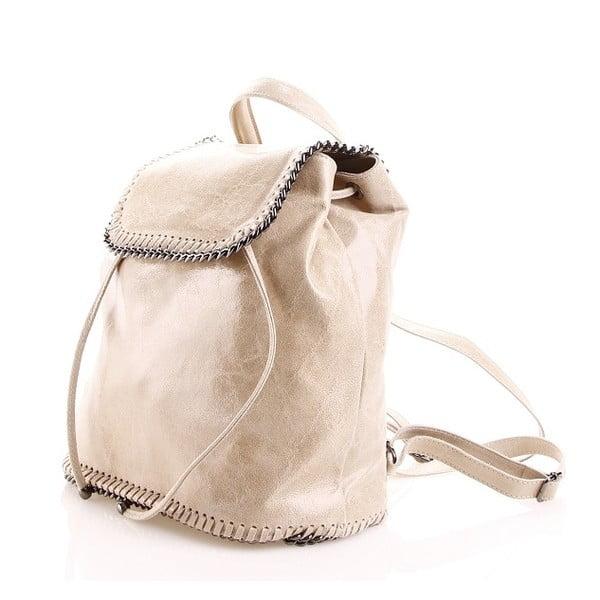 Plecaczek skórzany Emily, piaskowy