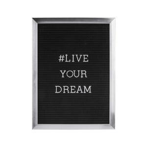 Szara ramka na zdjęcia z napisem PT LIVING Quote, 30x40 cm