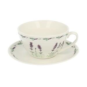Porcelanowa filiżanka ze spodkiem Duo Gift Lavender, 300ml