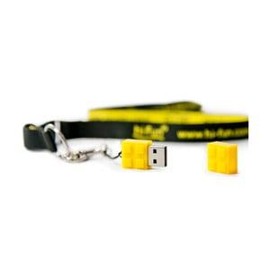 Pendrive Hi-Memory 4GB, żółty